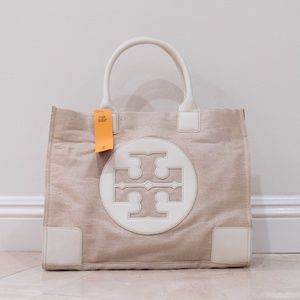 Tory Burch Metallic Canvas Ella Tote